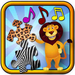 Children`s Animal Jigsaw Puzzles - teaches kids shapes and matching