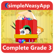 Complete Grade 3 (Math, English and Science) - A simpleNeasyApp by WAGmob