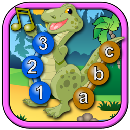 Kids Dinosaur Join and Connect the Dots Puzzles - Rex teaches the ABC numbers and counting suitable for preschool age children