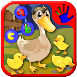 Preschool ABC farm animal join the dot puzzles - teaches numbers and letters