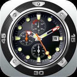 Desktop Clock: Desktop Wallpaper Clock & Dock Icon Watch (Free version) clock