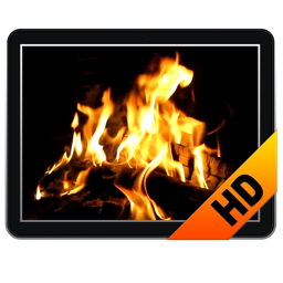 Fireplace Screensaver & Wallpaper HD with relaxing crackling fire sounds (free version) fireplace animated screensaver