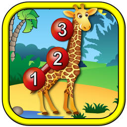 Kids Animal Connect the Dots Puzzles - educational dot to dot numeracy game for preschool children
