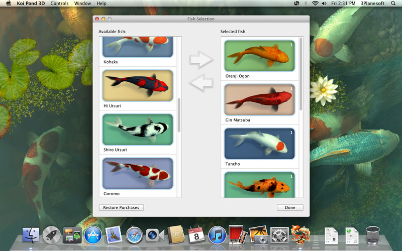 Koi pond 3d download app mac lisisoft for Koi pond app