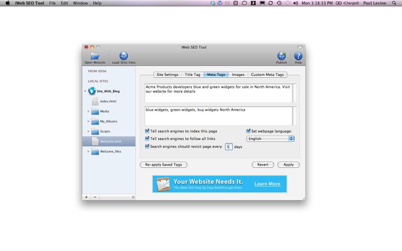 iWeb SEO Tool 1.9.5