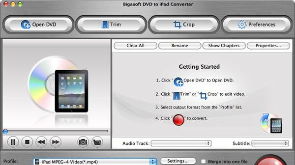 Bigasoft DVD to iPad Converter 1.0.12.3852