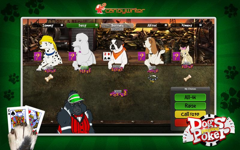 dogs playing poker game download windows