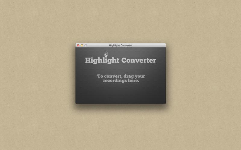 Highlight Converter