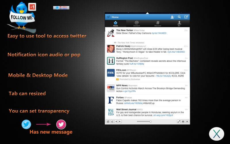 MenuTab for Twitter +