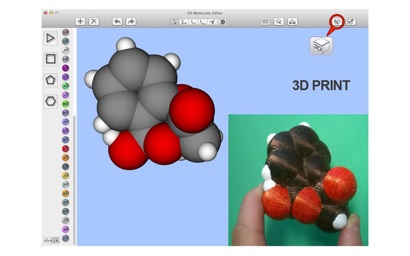 3D Molecules Edit & Test