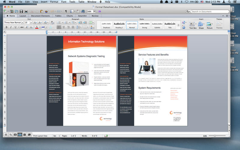 office for mac templates