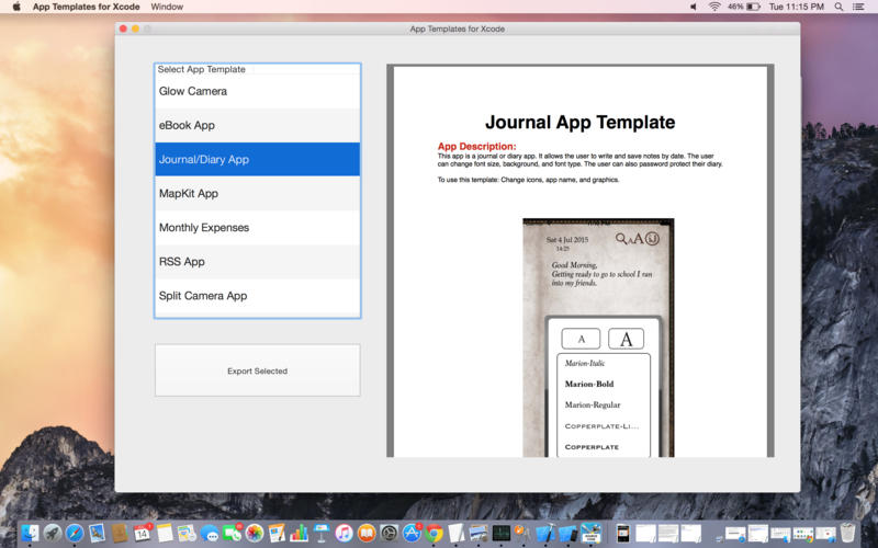 App Templates for Xcode