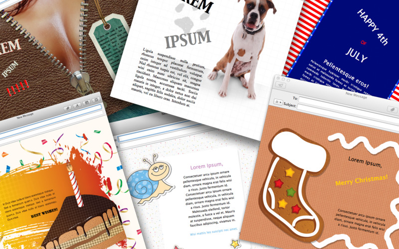 Mail Stationery Designs