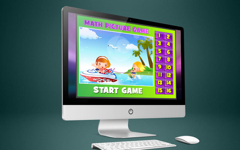 Math Kids Game to Cartoon
