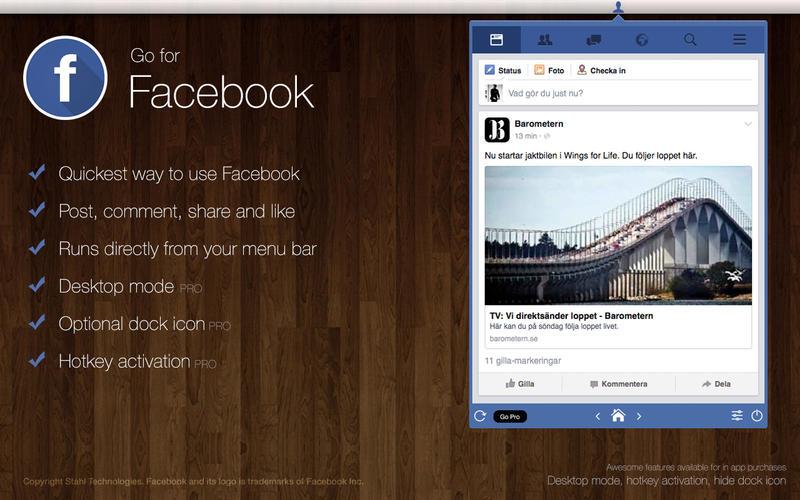 Go for Facebook - Instant at your desktop!