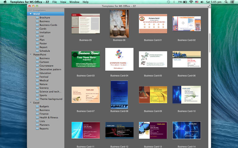 Templates for MS Office - ZZ