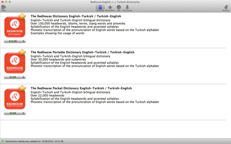 Redhouse Turkish <-> English dictionaries