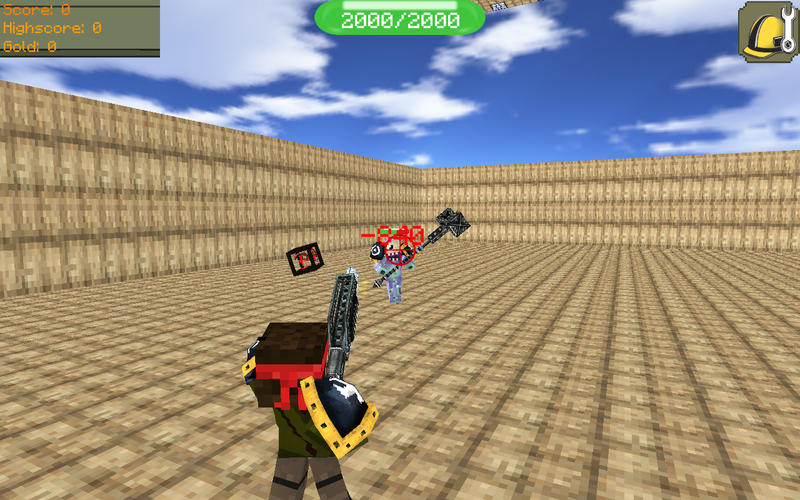 Pixel Warrior 3D - Multiplayer Battle Arena with Skins Builder for MineCraft