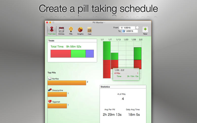 Pill Monitor - medication & pill reminder log