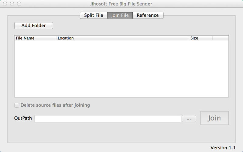 Jihosoft Free Big File Sender