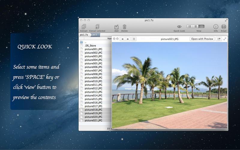 PackIt - Preview, Compress and Decompress 7z, zip, rar, .. files