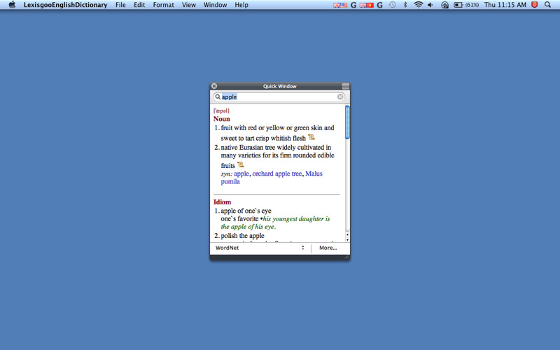 HElexicon English Dictionary And Thesaurus 1.0