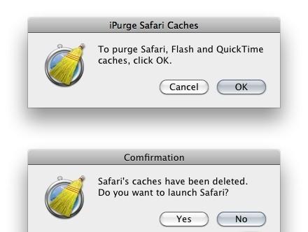 iPurge Safari Caches 1.5