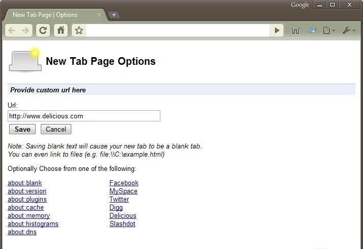New Tab 1.0