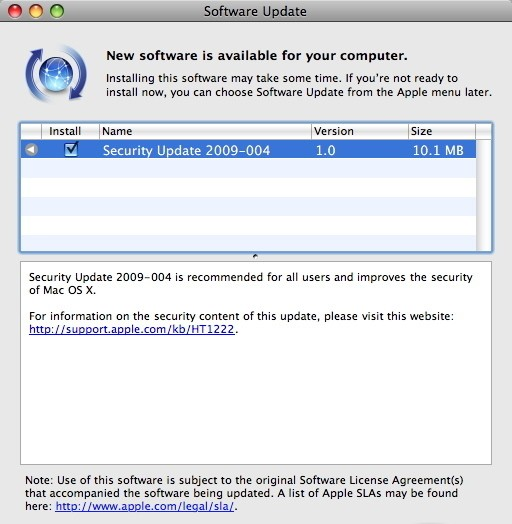Apple Security Update 2011-004