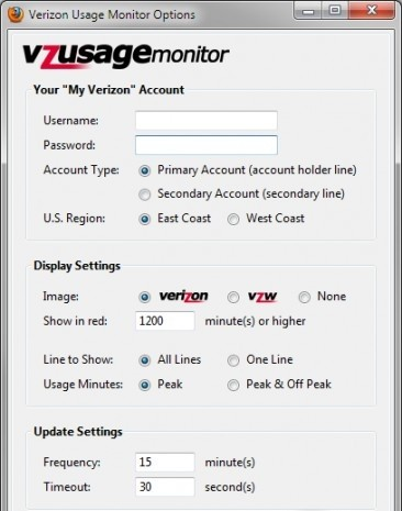Verizon Usage Monitor 1.26