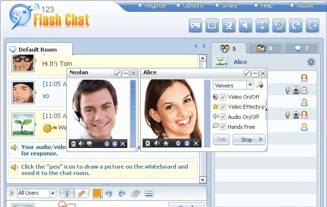123 Flash Chat Server 9.1