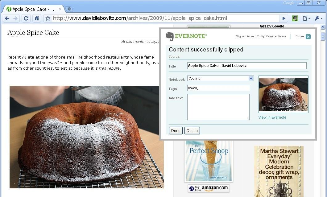 EverNote Web Clipper 5.1.15.1534