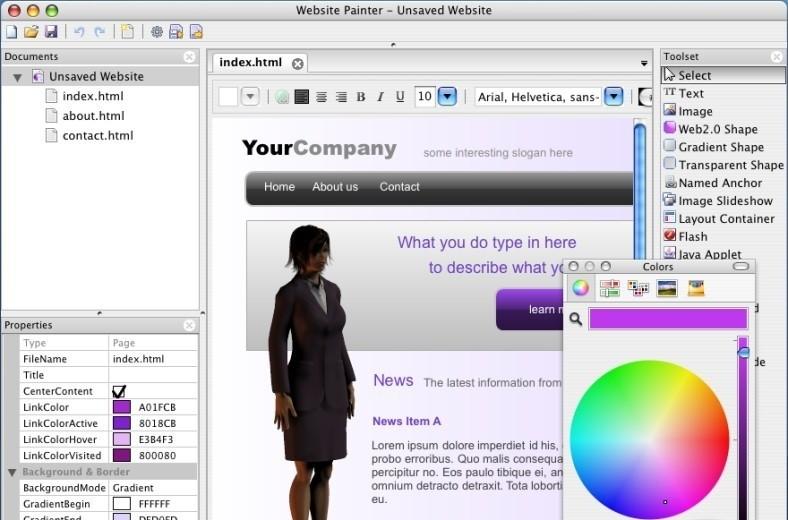 WebsitePainter 1.5.0