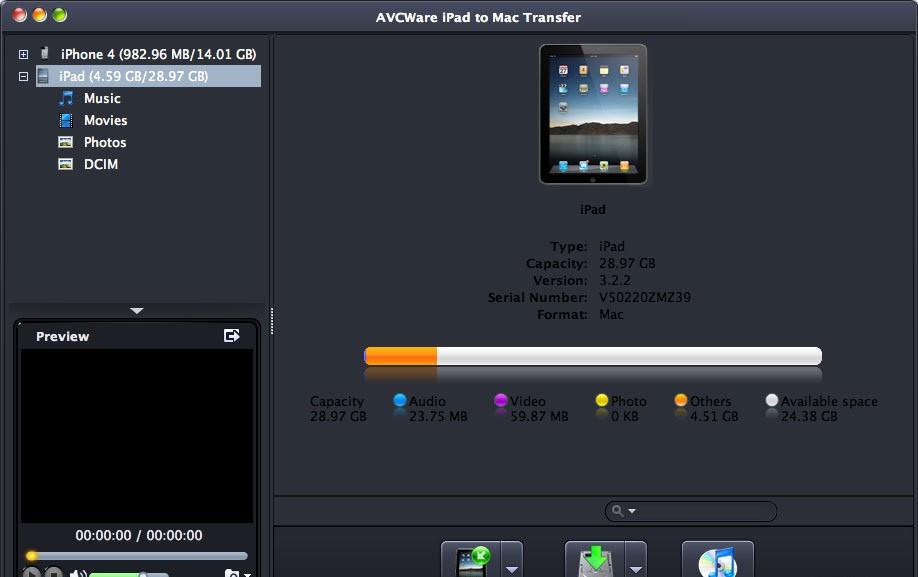 AVCWare iPad to Mac Transfer 3.3.0.1220