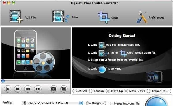 Bigasoft iPhone Video Converter 2.1.5.3873